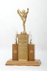 Football Trophy: Most Valuable Player (front), 1960/1965