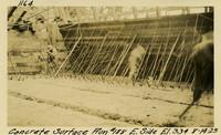 Lower Baker River dam construction 1925-08-14 Concrete Surface Run #188 E. Side El.334