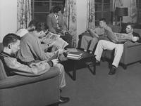 1950 Men's Residence Hall: Living Room