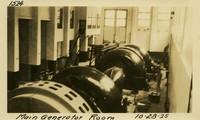 Lower Baker River dam construction 1925-10-28 Main Generator Room
