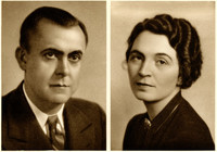 Individual studio portraits of Robert and Jean Welsch