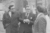 1972 Flora and Magnuson arriving for Library Dedication