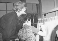 1961 Kindergarten Activities (Anne Critchfield with Student Teacher Sharon Kenaston)