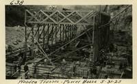 Lower Baker River dam construction 1925-05-31 Wooden Trusses Power House