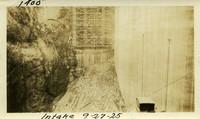 Lower Baker River dam construction 1925-09-27 Intake