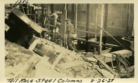 Lower Baker River dam construction 1925-08-26 Tail race Steel Columns