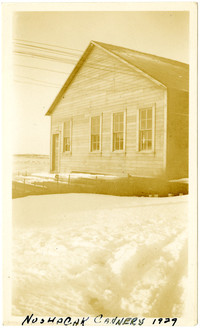 Nushagak Cannery building on snowy day