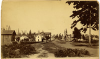 Small frontier-town main street of Lynden, Washington