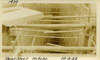 Lower Baker River dam construction 1925-10-03 Reinf Steel Intake