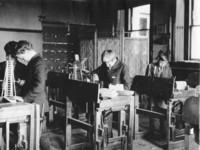 1909 Three Boys Working in Shop