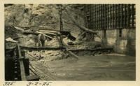 Lower Baker River dam construction 1925-03-02 Putting in concrete box drains