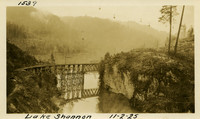 Lower Baker River dam construction 1925-11-02 Lake Shannon (with railroad trestle)