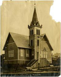 Exterior of United Lutheran Church, Whatcom, WA