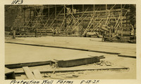 Lower Baker River dam construction 1925-08-15 Protection Wall Forms