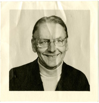 Portrait of unidentified man with glasses