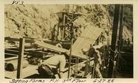 Lower Baker River dam construction 1925-06-27 Setting Forms P.H. 3rd Floor