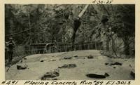 Lower Baker River dam construction 1925-04-30 Placing Concrete Run #89 El.301.3