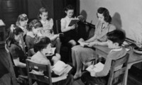 1942 Reading Time With Miss Reilly (Class 4-C)
