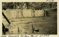 Lower Baker River dam construction 1925-05-12 Concrete Surface Run 101 El.291.8