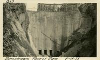 Lower Baker River dam construction 1925-08-18 Downstream Face of Dam