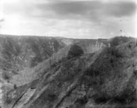 Aerial view of unidentified mountain range.