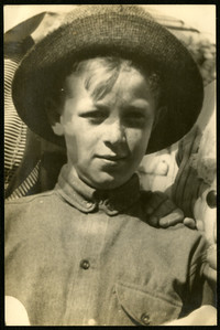 closeup of young boy in hat