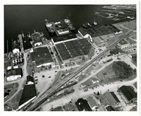 Aerial view of Pacific American Fisheries complex in Fairhaven, Washington, taken from the South