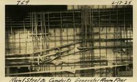 Lower Baker River dam construction 1925-06-17 Reinf Steel & Conduit Generator Room Floor