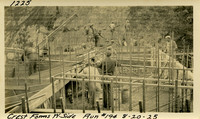 Lower Baker River dam construction 1925-08-20 Crest Forms W. Side Run #194