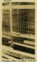 Lower Baker River dam construction 1925-05-10 Column Steel S. Wall