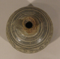 Sukhothai ware jar, globular body with iron black design of floral scroll band
