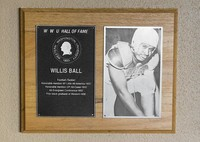 Hall of Fame Plaque: Willis Ball, Football (Tackle), Class of 1989
