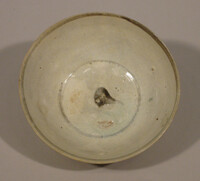 Bowl with iron brown floral spray decoration