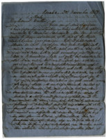 1857-11-02 Letter from M.L. Stangroom to his mother and Charly