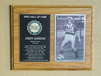 Hall of Fame Plaque: Cindy Gordon, Women's Soccer (Forward), Class of 1999