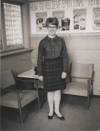 Unidentified Woman Posing for Camera.