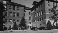1950 Main Building: from Parking Area