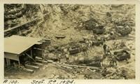 Lower Baker River dam construction 1924-09-29 Powerhouse excavation