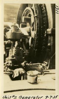Lower Baker River dam construction 1925-09-07 Unit #2 Generator