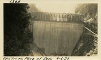 Lower Baker River dam construction 1925-09-06 Upstream Face of Dam