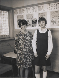 Two Women Posing for the Camera