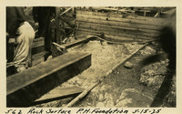 Lower Baker River dam construction 1925-05-15 Rock Surface P.H. Foundation