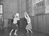 1948 Junior High Girls Playing Basketball
