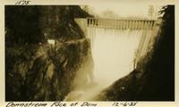 Lower Baker River dam construction 1925-12-06 Downstream Face of Dam