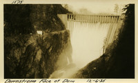 Lower Baker River dam construction 1925-12-06 Downstream Face of Dam