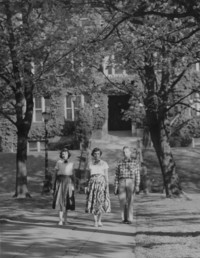 1951 Main Building: Students Walking
