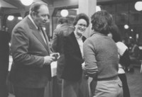 1985 G. Robert Ross Speaks at a Reception in the Registration Center