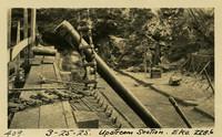 Lower Baker River dam construction 1925-03-25 Upstream Section Elev. 228.6