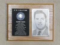 Hall of Fame Plaque: Norm Hash, Football (Fullback), Class of 1968