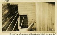 Lower Baker River dam construction 1925-05-22 Steel in Generator Foundation Wall